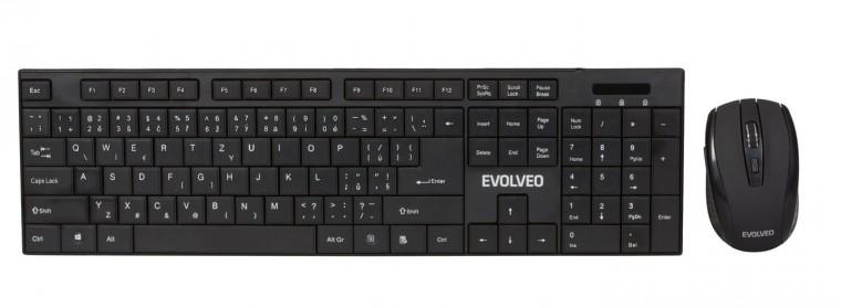 Sety klávesnic s myšou EVOLVEO set bezdrátová klávesnice a myš WK-122 ROZBALENÉ