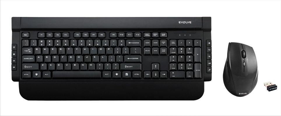 Sety klávesnic s myšou Evolveo WK-221 set bezdr. kláv. + bezdr. optická myš