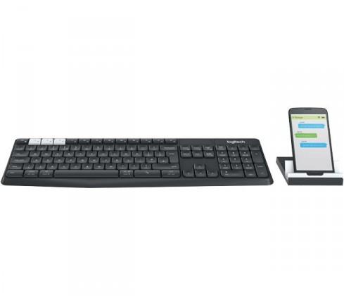 Sety klávesnic s myšou Logitech K375s Multi-Device Wireless Keyboard & Stand Combo
