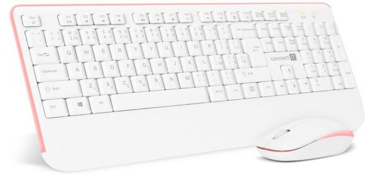 Sety klávesnic s myšou Set Connect IT CKM-7801-CS, klávesnica+myš, bezdrôtový, CZ/SK