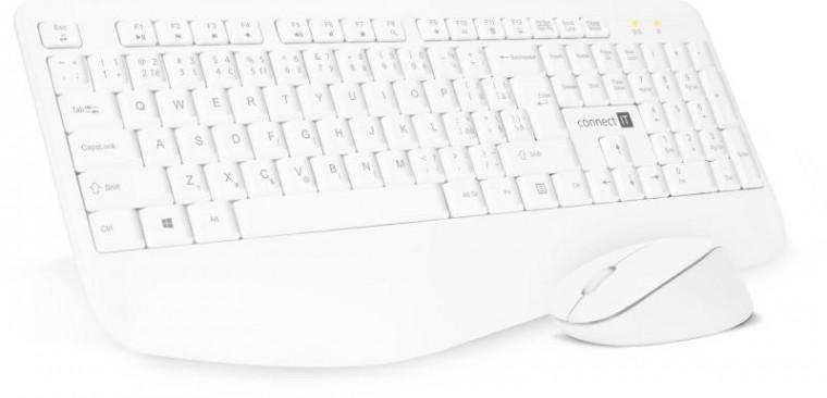 Sety klávesnic s myšou Set Connect IT CKM-7804-CS, klávesnica+myš, bezdrôtový, CZ/SK