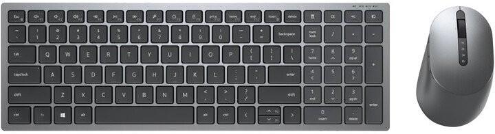 Sety klávesnic s myšou Set Dell KM7120W, klávesnica+myš, multi-device, CZ/SK, čierna