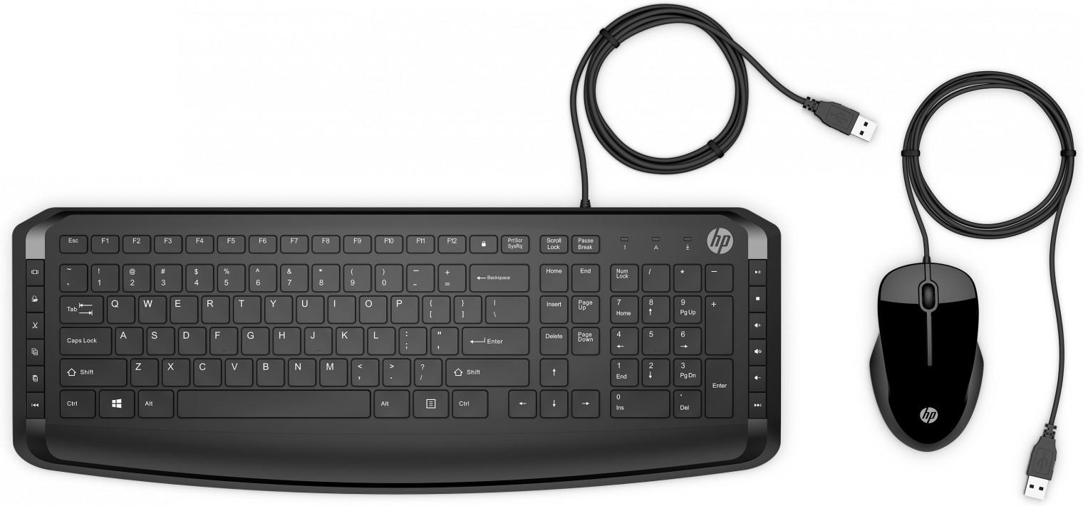 Sety klávesnic s myšou Set HP klávesnica a myš USB 250, CZ/SK, drôtový, čierny