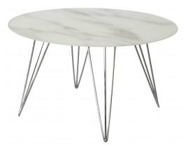 Sevilla - konferenčný stolík, sklenená doska, chrómové nohy