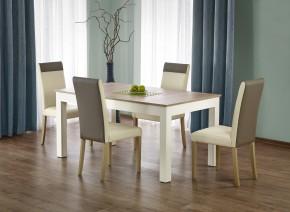 Seweryn - Jedálenský stôl 160-300x90 cm (dub sonoma, biela)