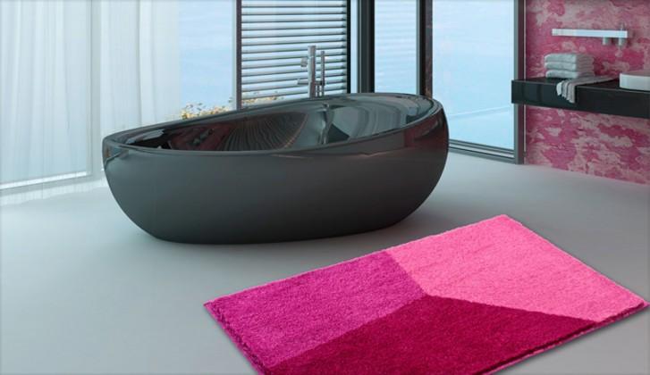 Shi - Kúpeľňová predložka 60x100 cm (ružová)