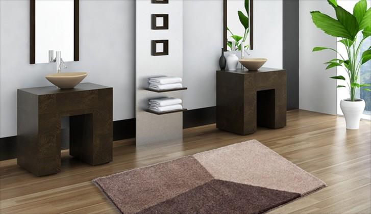 Shi - Kúpeľňová predložka 60x100 cm (svetle hnedá)