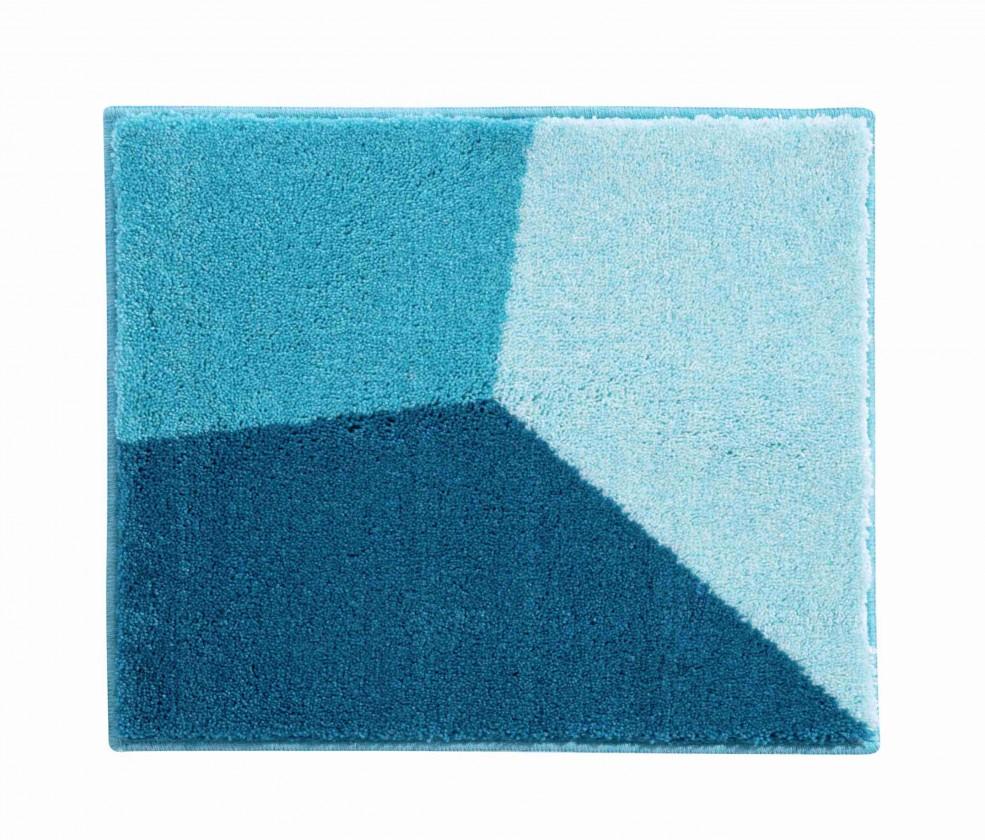 Shi - Kúpeľňová predložka malá 50x60 cm (modrá-petrolejová)
