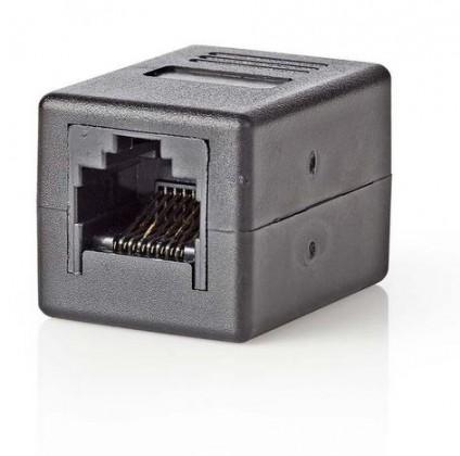Sieťové káble Sieťová spojka Nedis RJ45 / RJ45, čierna