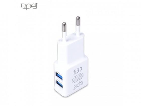Sieťové nabíjačky (230V) Apei Fast Charge 2x USB adapter + 1x Lightning cable