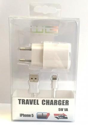 Sieťové nabíjačky (230V) Apple iPhone 5 dátový kábel + USB nabíjačka
