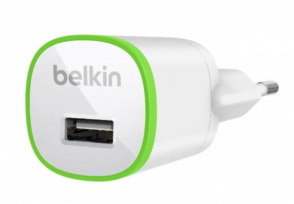 Sieťové nabíjačky (230V) Belkin 230V sieťová USB nabíjačka, výstup 1A, biela