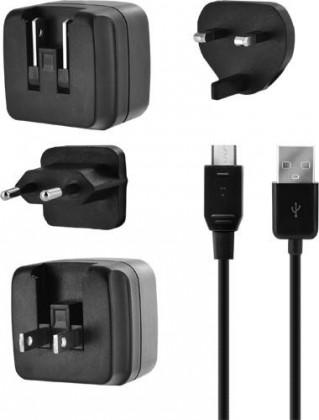 Sieťové nabíjačky (230V) BIGBEN cestovná nabíjačka 3.4a s micro USB káblom, UK, USA, EÚ