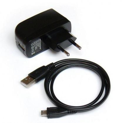 Sieťové nabíjačky (230V) Cestovná nabíjačka, 220V, microUSB, 2A, čierna ATCMICRO2000-R