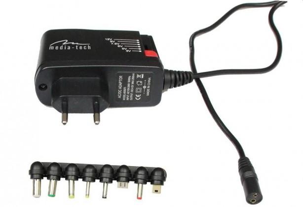 Sieťové nabíjačky (230V) Media-Tech MT-6267 univerzálny adaptér