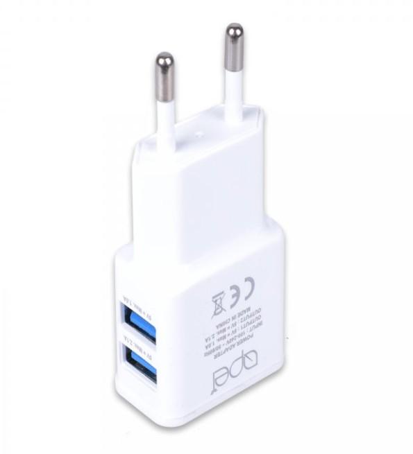 Sieťové nabíjačky (230V) Nabíjačka Apei 2xUSB 3,1A s rychlonabíjením + kábel USB Typ C