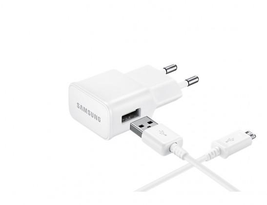 Sieťové nabíjačky (230V) Nabíjačka Samsung 1xUSB 2A + kábel Micro USB, biela