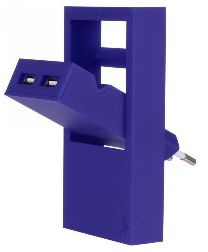 Sieťové nabíjačky (230V) USBEPOWER cestovní USB nabíječka ROCK2.1, modrá