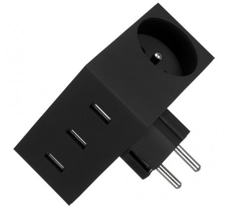 Sieťové nabíjačky (230V) USBEPOWER USB nabíječka HIDE 4.4 , černá