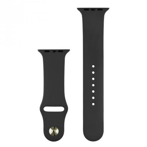Silikónový športový remienok na Apple watch 38/40 mm, čierny ROZB