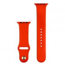 Silikónový športový remienok na Apple watch 42/44 mm, červený