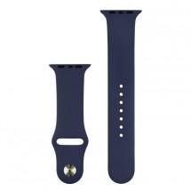 Silikónový športový remienok na Apple watch 42/44 mm, T modrý