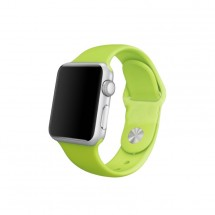 Silikónový športový remienok na Apple watch 42/44 mm, zelený