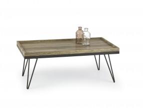 Silvia - konferenčný stolík (dub žíhaný/čierná)