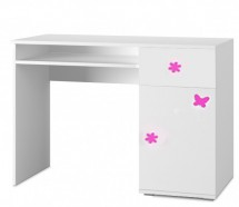 Simba 12(korpus biela/front biela a ružový motýlik)