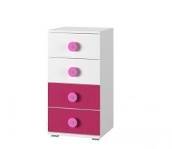 Simba 9(korpus biela/front biela a ružová)