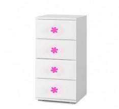 Simba 9(korpus biela/front biela a ružový motýlik)