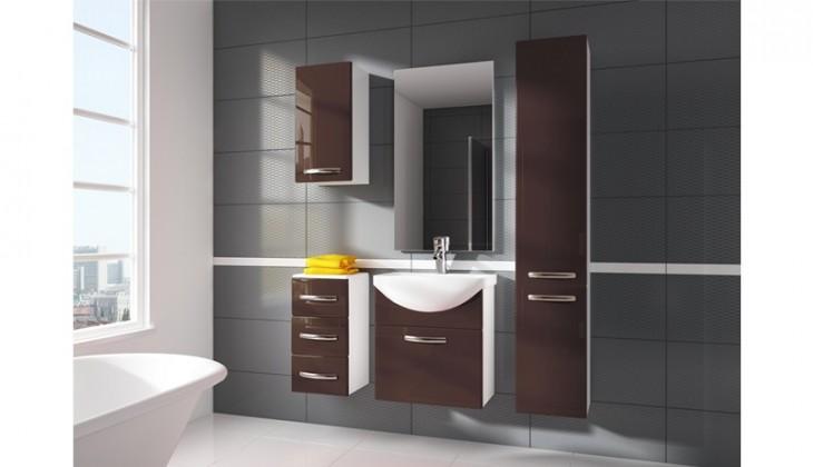 Siracusa - kúpeľňová zostava s umývadlom (hnedá)