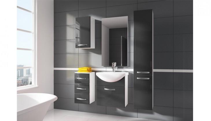 Siracusa - kúpeľňová zostava s umývadlom (sivá)