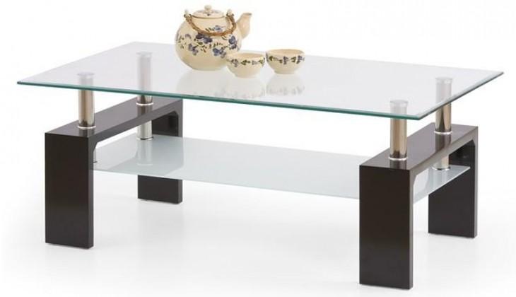 Sklenené konferenčné stolíky Konferenčný stolík Diana Intro (wenge)