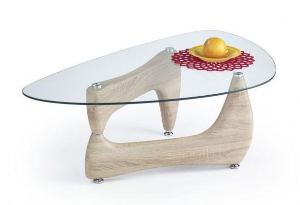 Sklenené konferenčné stolíky Konferenčný stolík Karen(dub sonoma)