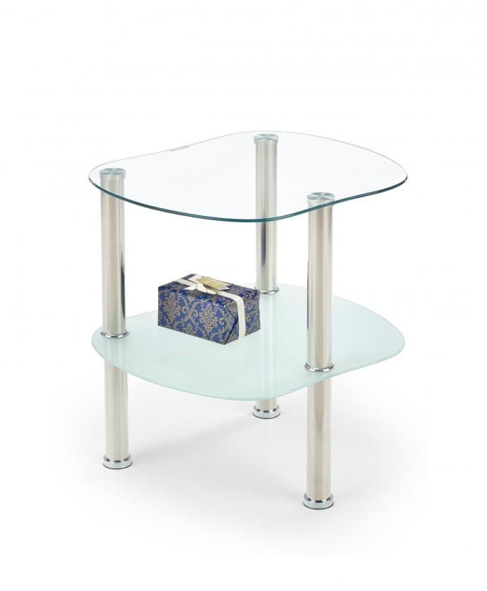Sklenený Arya - Konferenčný stolík (sklo/kov)