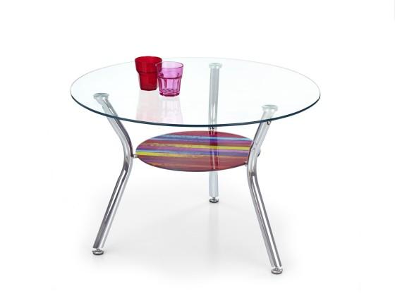 Sklenený Becky - Konferenčný stolík (viacfarebný)