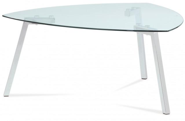 Sklenený Erika - Konferenčný stolík sklenený (sklo, chróm)