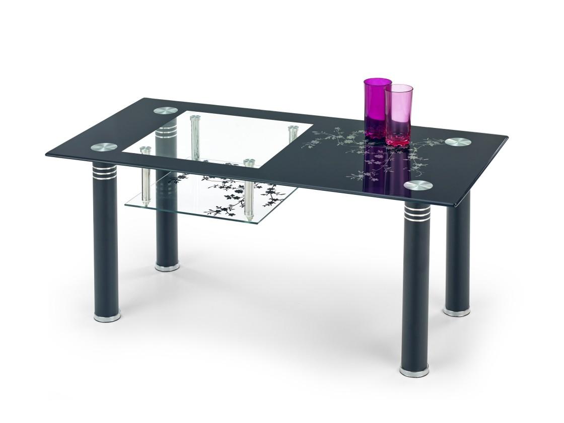 Sklenený Monroe - Konferenčný stolík (čierna)