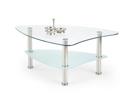 Sklenený Salma - Konferenčný stolík (sklo/kov)