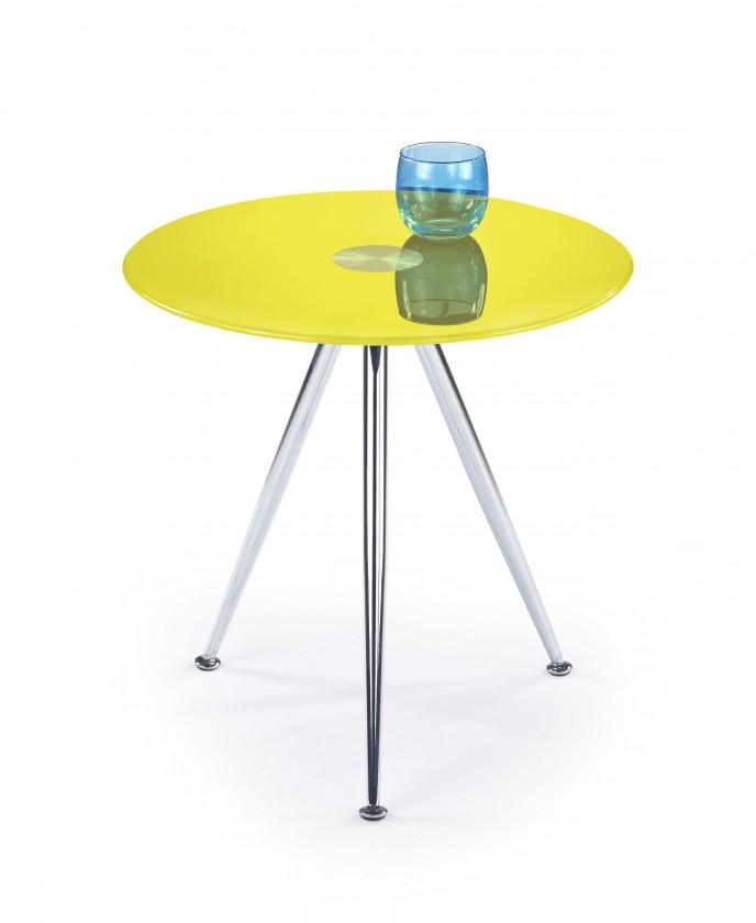 Sklenený Siena - Konferenčný stolík (žltá)