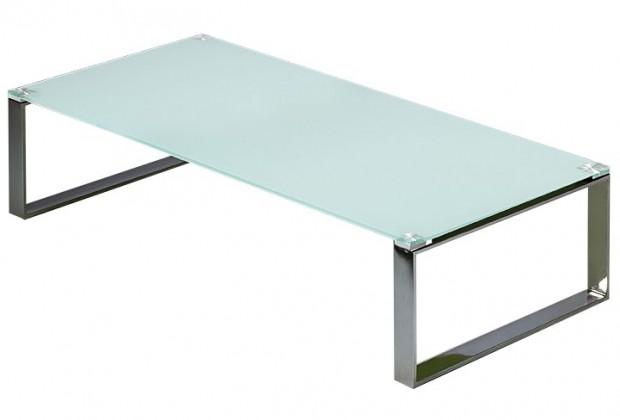 Sklenený Stain - Konferenčný stolík (biela)