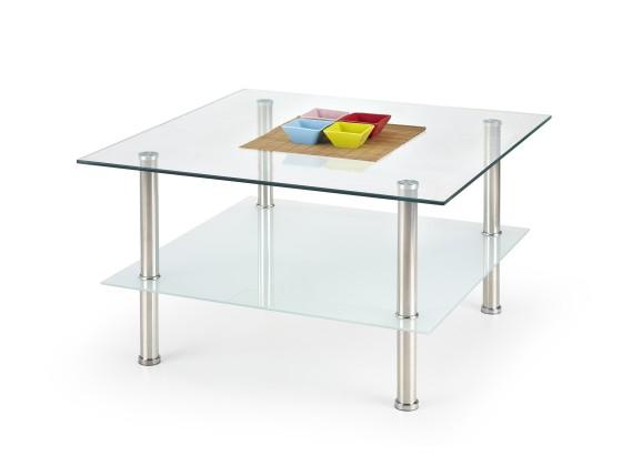 Sklenený Tesla - Konferenčný stolík (sklo/kov)
