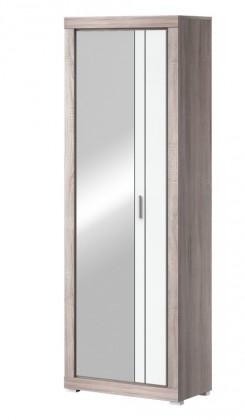 Skriňa Clark Typ 03 (dub bardolino/biela arctic vysoký lesk)