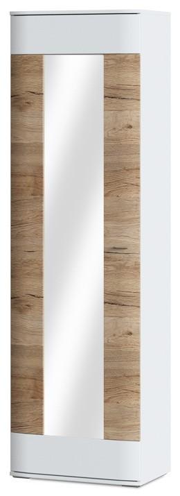 Skriňa Denver Typ 01 (biela arctic/dub san remo pieskový)