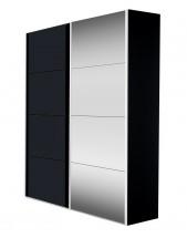 Skriňa Flavour 7093151 (antracit/krištálové zrkadlo) - II. akosť