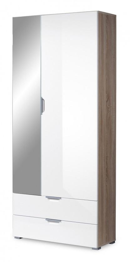 Skriňa GW-Eva - skriňa so zrkadlom (dub sonoma/biela)