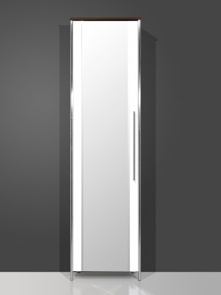 Skriňa GW-Sandra - Skriňa so zrkadlom (wenge / biela)