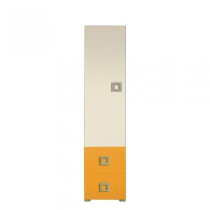 Skriňa LABYRINT LA 3 L/P (krémová/oranžová)