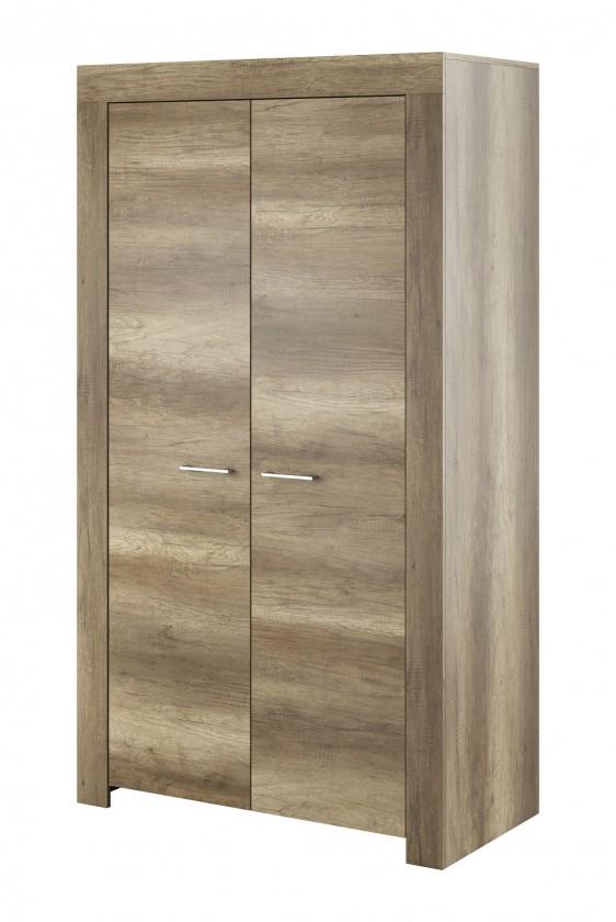 Skriňa Obývacia skriňa Sky - 2x dvere, ABS (country sivá)